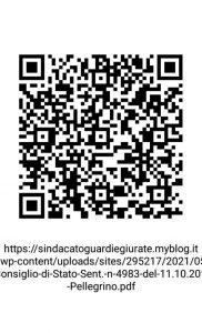 Barcode Sentenza Consiglio di Stato